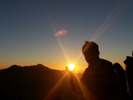 sunrise hand hold