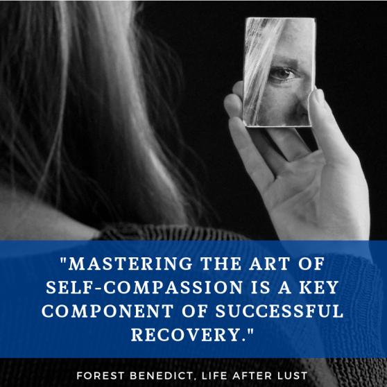 Matery self-compassion female mirror